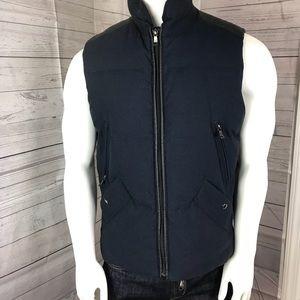 BANANA REPUBLIC Wool Down Filled Puffer Vest Sz M